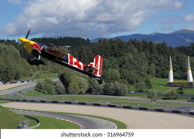 Spielberg, Austria- September 6, 2015: Race plane at Red Bull Air Race World Championship in Red Bull Ring, Austria on September 6, 2015.