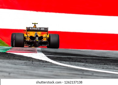 Spielberg/Austria -  06/29/2018 - #2 Stoffel Vandoorne (BEL) in his McLaren Renault MCL33 during the Friday afternoon practice ahead of the 2018 Austrian Grand Prix at the Red Bull Ring