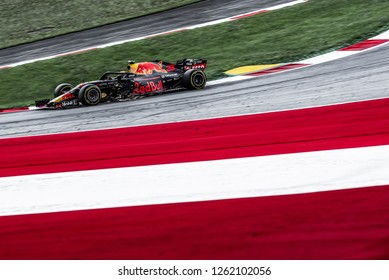 Spielberg/Austria -  06/29/2018 - #33 Max Verstappen in his Red Bull Racing RB14 during the Friday afternoon practice ahead of the 2018 Austrian Grand Prix at the Red Bull Ring