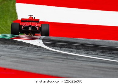 Spielberg/Austria -  06/29/2018 - 4-times world champion #5 Sebastian Vettel (GER) in his Ferrari SF71-H during the Friday afternoon practice ahead of the 2018 Austrian Grand Prix at the Red Bull Ring