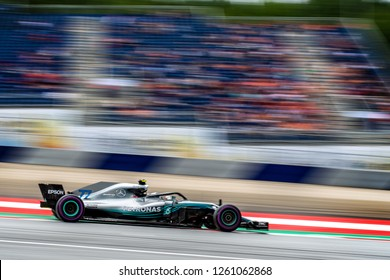 Spielberg/Austria -  06/29/2018 - #77 Valtteri Bottas (FIN) in his AMG Mercedes Petronas w09 during the Friday afternoon practice ahead of the 2018 Austrian Grand Prix at the Red Bull Ring