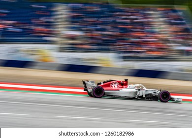 Spielberg/Austria -  06/29/2018 - #9 Marcus Ericsson in his Sauber C37 during the Friday afternoon practice ahead of the 2018 Austrian Grand Prix at the Red Bull Ring