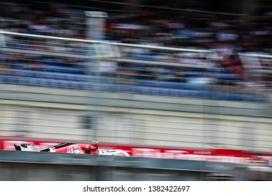 Spielberg/Austria - 06/30/2018 - #16 Charles LECLERC (MCO) flashes under the main grandstand at the Red Bull Ring in his Alfa Romeo Sauber C37 during FP3 ahead of the 2018 Austrian Grand Prix