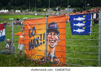 Spielberg/Austria - 06/30/2018 - Fans of #33 Max Verstappen (NDL) during qualifying for the 2018 Austrian Grand Prix at the Red Bull Ring