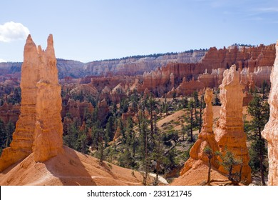Spiers and turrets in the National Park Bryce Canyon