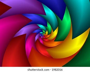 spiked rainbow spiral