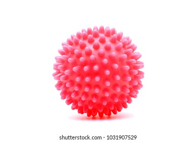 Spiky massage ball isolated on the white background