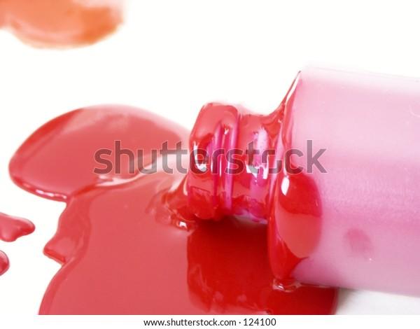 spilled color red