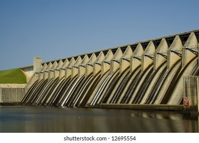 spillway of electric power plant