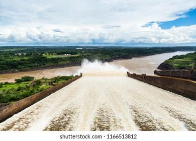 Spillway of Itaipu Dam