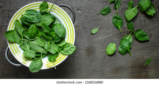 spinach (green petals). top food background