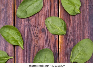 Spinach on old boards
