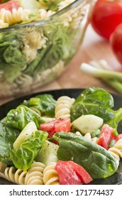 Spinach and rotini pasta
