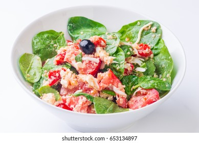 spinach salad with chia