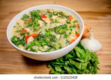 Spinach Salmon Bowl