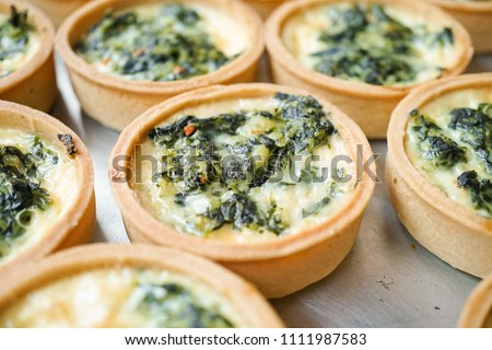 Spinach tarts Closed up