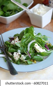 Spinach, watercress, pea and ricotta salad