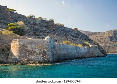 Spinalonga fortress on the island of Crete, Greece.