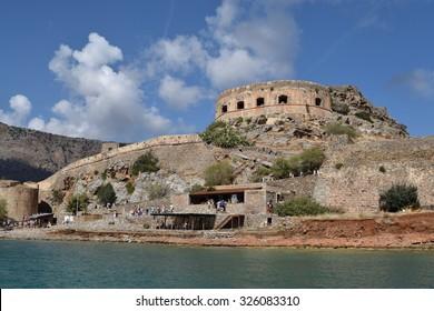 Spinalonga Island, Crete, old fort