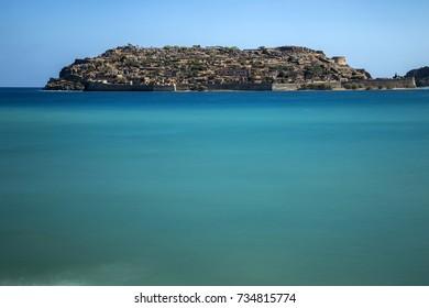 spinalonga island Elounda Village Crete Greece