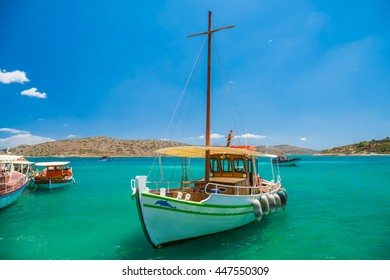Spinalonga island is a popular tourist attraction in Crete, Greece.