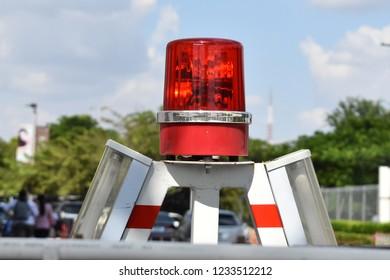 spinning blockade red light lamp