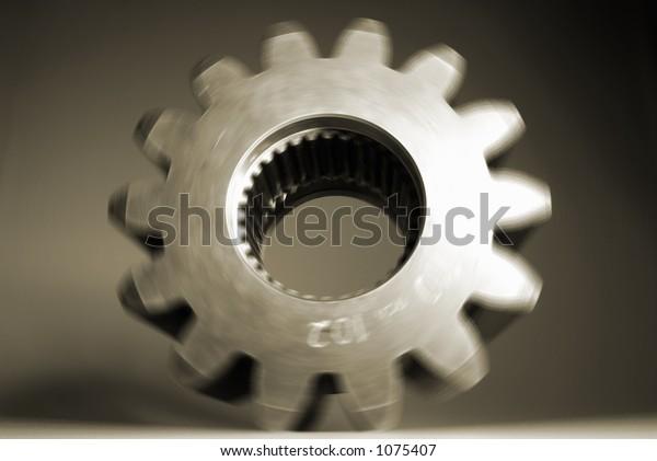 spinning cog wheel