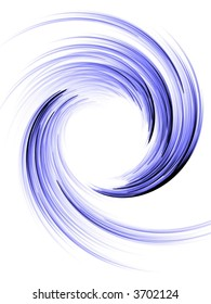 Spinning, curling blue wave effect (computer generated, fractal abstract background)