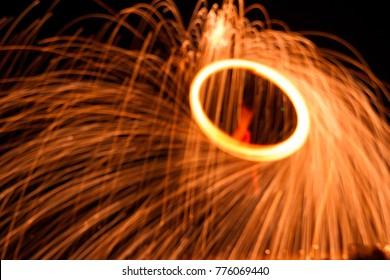 spinning fire wool