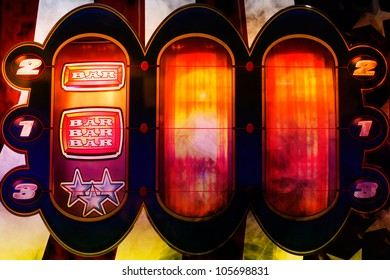 spinning nice colorful slot machine in a casino