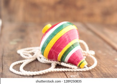 Spinning top, mexican toy