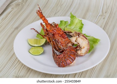 Spiny lobster grilled with lime and spices