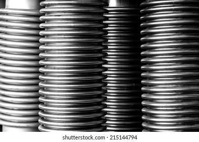 Spiral for background texture, Black and white photo.