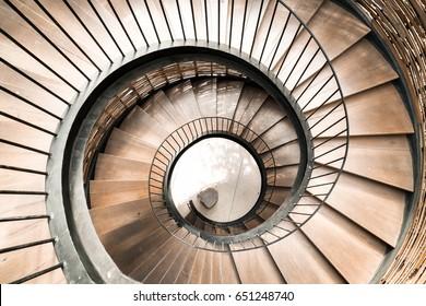 Bon Spiral Circle Staircase Decoration Interior   Vintage Effect Filter