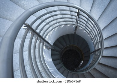 Spiral circle stairway abstract building pattern