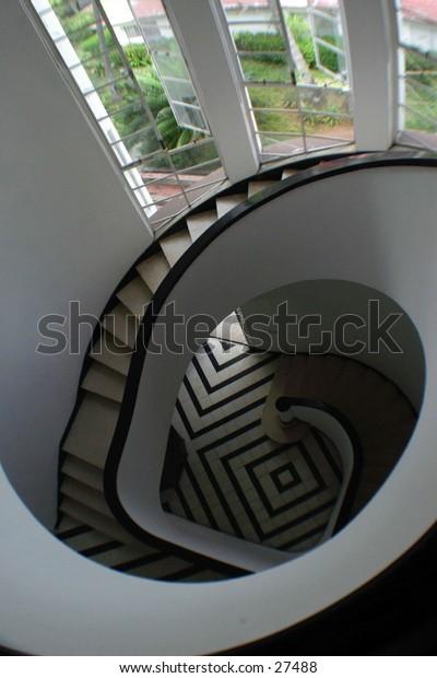 Spiral designer staircase