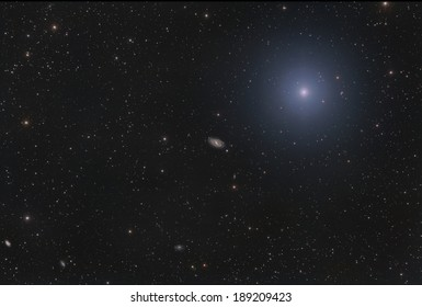 Spiral Galaxy M 109 in Ursa Major, very close to The Big Dipper