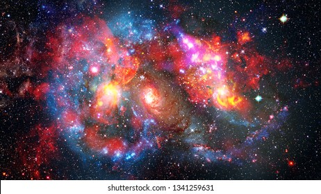 Spiral galaxy in space. Nature sky. Elements of this image furnished by NASA.