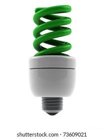 spiral green eco bulb