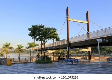 the Spiral Lookout Tower of Tai Po Waterfront Park