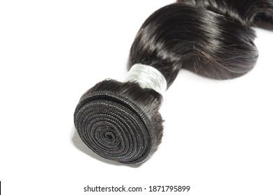 spiral loose wavy black human hair weaves extensions bundles