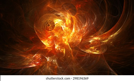 Spiral Nebula. Billowing smoke. Particles of paint in the water. Space. Format 16:9 for widescreen monitors. Fractal Wallpaper on your desktop. Dark background.
