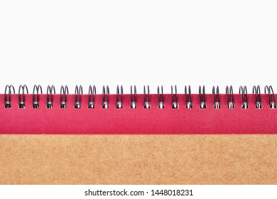spiral notebook cover detail closeup isolated on white