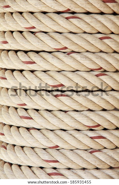 Spiral of rope.