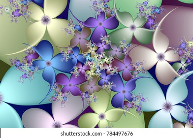 Spiral of Spring Flowers