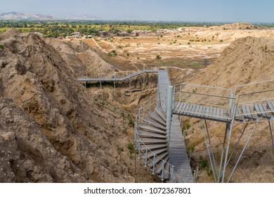Spiral stair, Tucume pyramid, Peru