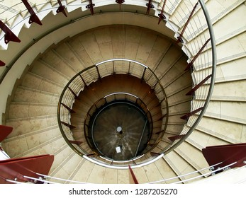 Spiral staircase from above