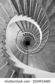 Spiral Staircase in black and white