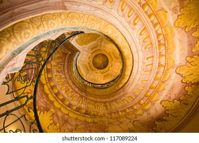 Spiral staircase at Melk Abbey