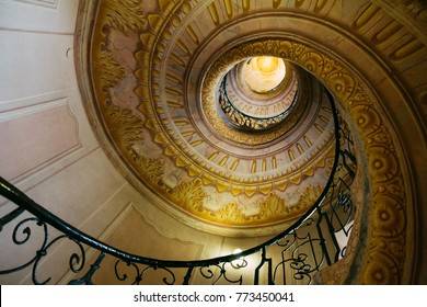 Spiral staircase in Melk abbey, Austria